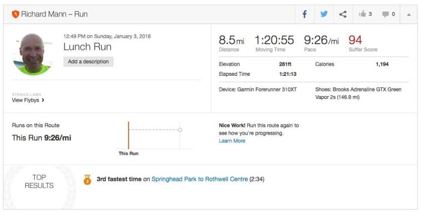 Run 3 january